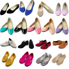Womens Flip On Flat Pumps Ballet Ballerina Dolly Casual Bridal Shoes Loafers