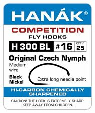 Hanak Competition Barbless Fly Fishing Hooks H 300 BL 25pk