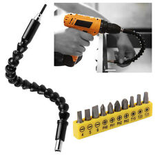 Flexible Extention Screwdriver Set head Drill Bit Holder Magnetic Quick Connect