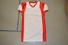 BLANK WHITE Red Sides Collar Authentic Cut Arena Fantasy Football League Jersey