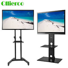 TV Cart Floor TV Stand with Mount Bracket for 26-65'' LCD LED Plasma Flat Panels
