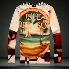 Men's Just Cavalli Beautiful Sea View Printed 3D Personalized Cotton T-shirt