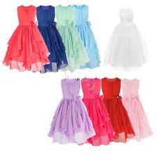 Kid Flower Girl Princess Pageant Formal Party Prom Gown Bridesmaid Wedding Dress