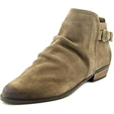 Naughty Monkey Buckle Me Up  Women  Round Toe Suede Gray Bootie