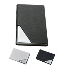 Men Business Magnetic Stainless Steel PU ID Credit Card Holder Box Badge Case