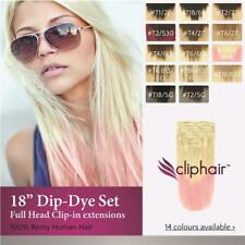 Dip-Dye / Ombre Full Head Clip in Remy Human Hair Extensions