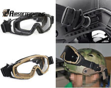 FMA Tactical Helmet Ballistic Anti-fog Goggle Glasses Airsoft Military 2pcs Lens