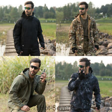 Men's Tactical Soft Shell TAD Jacket Camping Outerwear Army Fleece Hoodie Coat