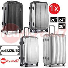 "Luggage Suitcase Single 20"" 24"" 28"" Trolley 4 Wheel ABS TSA Travel Bag Hard Case"