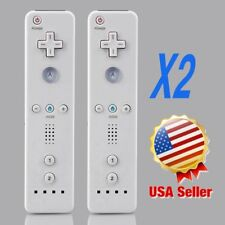 Lot 2 Wireless Remote Controller+Wrist for Nintendo Wii Game White USA SK