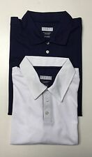Men's Short sleeves 3 Button Placket Moisture Management Polo Golf Shirt NWT.