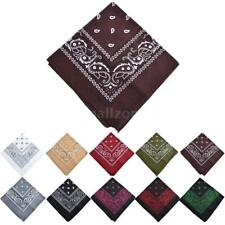 1pcs Women Men Square Scarf Paisley Neckerchief Shawl Wrap Bandana Scarves E6H2