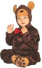 Baby Girls Boys Brown Teddy Bear Animal Fancy Dress Costume Outfit 6-12 12-24mth