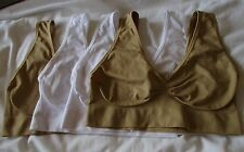 Rhonda Shear Seamless 'Ahh Bra' 4 Pack White Nude New
