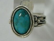 Sterling Silver 925 Ring Cocktail Turquoise Turquoise
