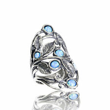 Unique Sterling Silver 925 Ring Turquoise Turquoise Shablool Women's Ring