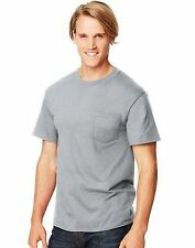 4-Hanes Beefy-T Adult POCKET T-Shirts ASSORTED COLORS Sizes S - 3XL Best Seller