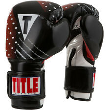 Title Boxing Classic C-Charged Hook and Loop Boxing Gloves - Black/White