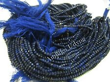 1/5 STRINGS- AAA Rondelle Faceted Natural Lapis Lazuli 2-2.5mm Beads, Length 13""