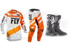 Fly Racing Orange Black F-16 Jersey Pant Boot Combo Set MX/ATV MX Riding Gear 18