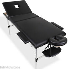 Portable Aluminium/Wood Massage Table 3Fold Bed Beauty Therapy Waxing 60/70/75CM