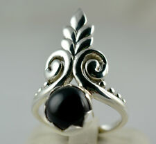 Black Onyx Ring 925 Solid Sterling Silver Handmade Jewelry Size F-Z 1/2 UK
