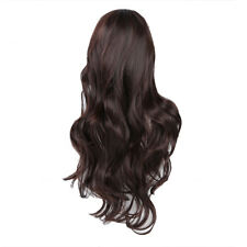 SA Top Quality Human Hair Gorgeous Ladies Long Wavy Curly Full Wig