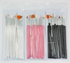 15 pcs Nail Art Brush Set Acrylic UV Gel Liner Drawing Painting Dotting Pen 979