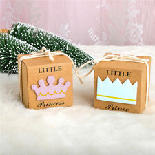 12x BABY SHOWER CHRISTENING LITTLE PRINCE OR PRINCESS FAVOURS BONBONNIERE BOX