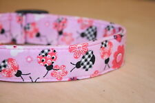 Pink & Red & Black Ladybugs Dog & Cat Collars & Martingales & Leashes Collars