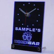 tncq-tm Personalized Custom Family Home Brew Mug Cheers Neon Led Table Clock