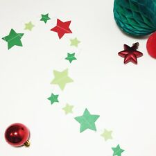 Christmas decorations, garlands xmas gift, 1m, stars banner, party decorations