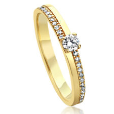 Women 3mm 14K Yellow Gold 0.19  cttw Diamond Stackable Ring Wedding Ring