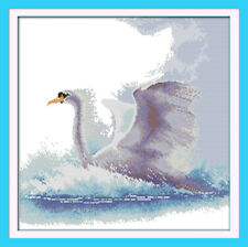 "Counted Cross Stitch Kit ""The Flight Swan"" 17''x17'' 14 Count Canvas Embroidery"