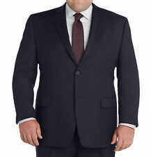 Palm Beach Portly Solid Navy Blue Wool Blend Suit Separates