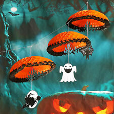 Happy Halloween Paper Parachute Hanging Banners Party Home Hanging Decoration