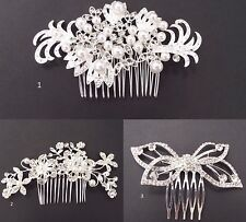 Beautiful Silver Colour Crystal Wedding Bridal Jewellery Hair Comb/Clip/Slide