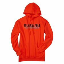 Subaru Logo Comfort Fleece Hoodie Forester Impreza WRX STI SWEATSHIRT Orange New
