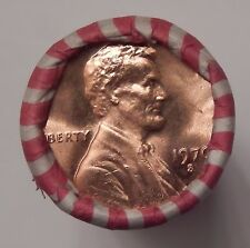 Lincoln Memorial Cent Roll of BU 1970-S Pennies Year of Large or Small Date 003