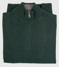 Hackett Knitwear - Hackett Men's Lambswool Zip Neck Jumper Dark Green