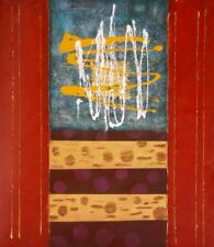 Gates of Dawn Flat and Abstract Colorful Modern Wall Canvas Art Oil Painting