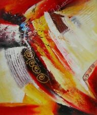 Homage to the Abstract Colorful Painted Beautiful Stretched Canvas Oil Painting