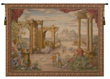 Vue Antique French Desert Landscape Decorative Woven Tapestry Wall Hanging