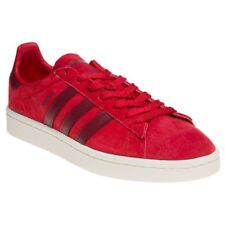 New Mens adidas Red Campus Suede Trainers Retro Lace Up