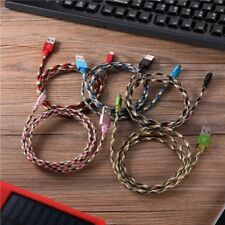 3FT Braided Data Sync Cord USB Data Sync Charger Cable Fast Charger Data Cable