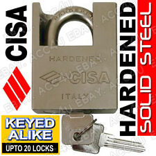 CISA Anti-Corrosion 62mm Heavy Duty Solid Steel Padlock Up to 20 Keyed Alike