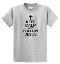 Keep Calm Follow Jesus Graphic Tees Mens Regular and Big and Tall Size Port & Co