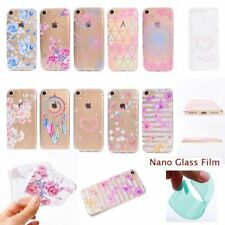 Film+NEW Fashion Floral Cottage TPU SOFT RUGGED Back Case Cover For Apple iPhone