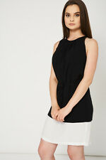NEW Casual Or Formal Black White Tie Short Dress Women's Ladies Summer Party UK