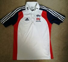 Great Britain Cycling Team Casual Polo T-shirt Adidas Sky White